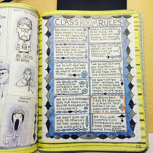 Lynda Barry's Classroom Rules