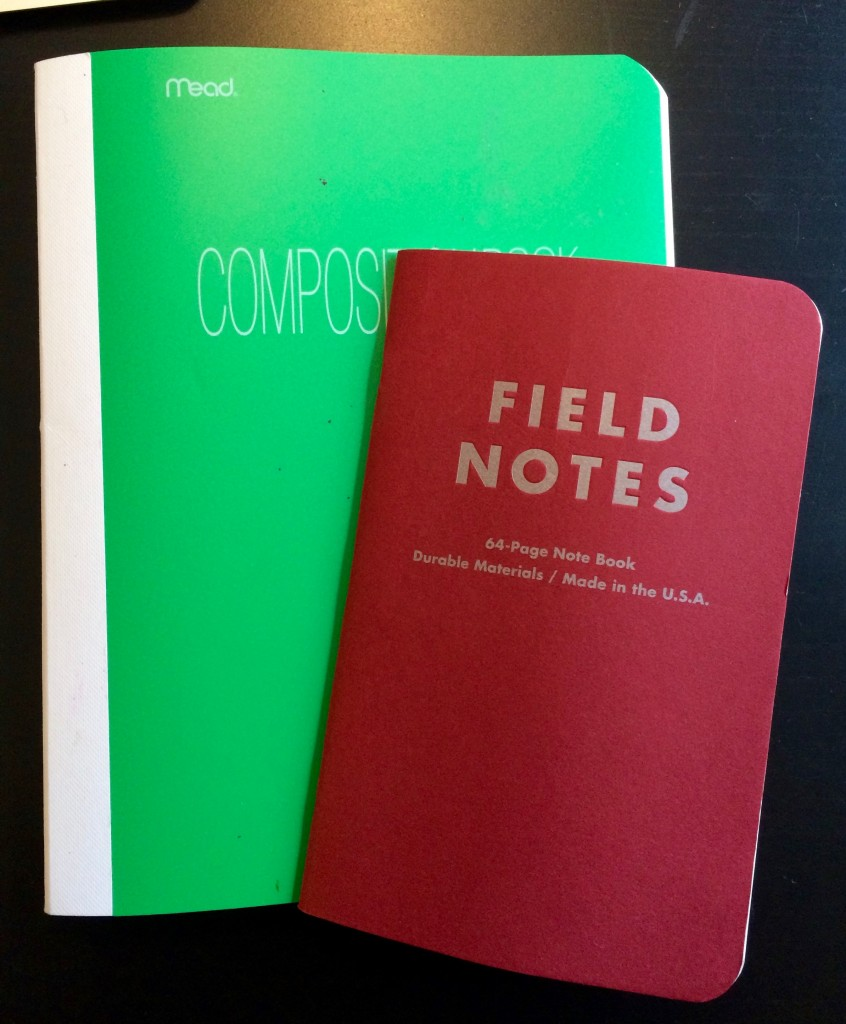 my writing notebooks
